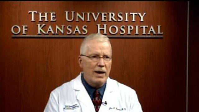 While the hospital cannot rule out Ebola at this time, Dr. Lee Norman, chief medical officer of The University of Kansas Hospital, says the patient is at low to moderate risk of Ebola.