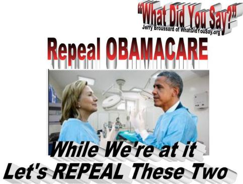 Repreal Obamacare