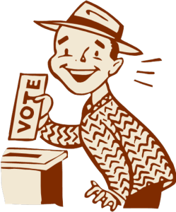 """""""I get to vote twice? Gee, thanks, pal!"""""""