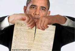 Obama tearing up the constitution